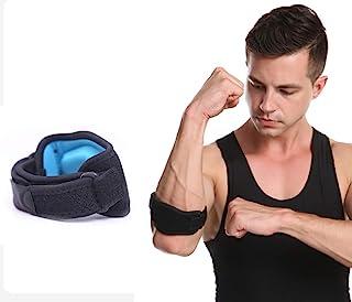 Emoly 网球肘部护具,带压缩垫,适合女士和男士高尔夫球手肘护具,用于缓解*、举重*(单只、蓝色)(Emoly)