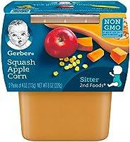 Gerber 2nd Foods 南瓜蘋果玉米泥嬰兒食品,8 計數