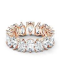 SWAROVSKI Vittore 梨形戒指 镀玫瑰金-戒指尺寸 7