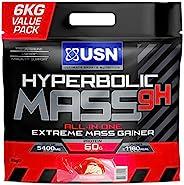 USN Hyperbolic Mass 香草味,6kg: 一体式Mass Gainer蛋白粉,快速有效