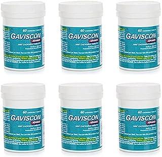 嘉胃斯康 Gaviscon Advance Chewable Tablets Mint - Pack of 6 by Gaviscon