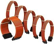 LINKUP - PSU 電纜延長套筒 定制 Mod GPU PC 電源編織帶梳子套件 | 1x 24 P (20+4) | 2X 8 P (4+4) CPU | 3X 8 P (6+2) GPU 套裝 | 30CM 3