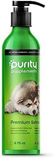 纯挪威三文鱼油,适合狗狗、猫、雪貂 - 不含 BPA 的铝制泵瓶 - 无异味 - Omega 3 和 6 用于柔软闪亮涂层 - *支持 - * - 宠物鱼油(8.7 盎司)