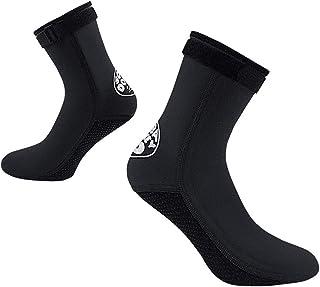 IPENNY 保暖防滑潜水服袜 3 毫米氯丁橡胶潜水袜 适合女士男士,温暖防滑水上运动袜,适合潜水浮潜游泳冲浪帆船