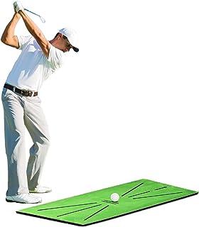 Nlager 高尔夫击球垫,便携式高尔夫训练垫挥杆检测击球练习击球辅助人造草坪垫专业人士和初学者礼品,适合家庭办公室户外使用