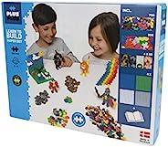 Plus-Plus 9603811 玩具迷你拼插积木,Learn to Build Super 积木套装,1200块,彩色