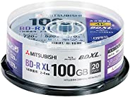 三菱化學媒體 一次錄像用 BD-R XL VBR520YP20SD4 (單面3層/2-4倍速/100GB/20張裝)