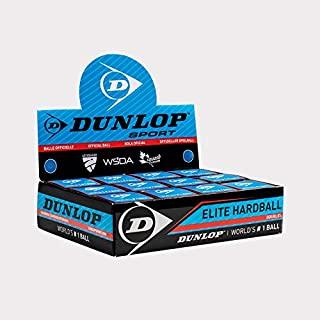 Dunlop Elite 双高海拔壁球,蓝色硬球,带白色圆点,12 个球盒