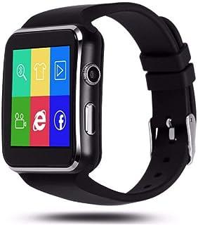 IOQSOF 蓝牙智能手表,智能腕表,适用于 Android iOS iPhone 三星华为索尼*跟踪器支持Micro SIM 卡,男女儿童男孩弧形屏幕智能手机