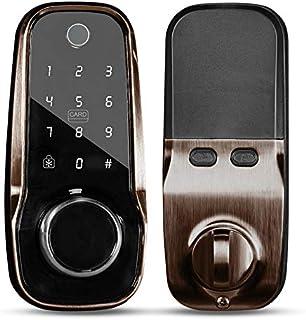 ChicAid 智能锁前门,ChicAid 无钥匙入口门锁,数字电子门闩,带触摸键盘,适用于家庭酒店和公寓办公室
