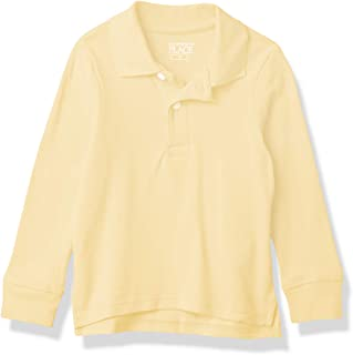The Children's Place 男孩婴幼儿制服长袖珠地布 Polo 衫