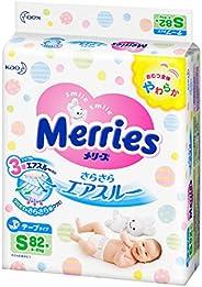 Kao 花王 Merries 貼片式 紙尿褲 S碼(4~8公斤)干爽透氣 Sサイズ テープ 82枚 82