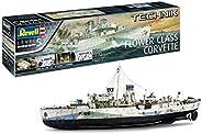 Revell 00451 - 技术模型套件 船舶1:72 - 花级护卫舰带电子装置,效果很好,比例为1:72,等级5,原产仿真,细节丰富