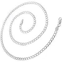 925 纯银意大利 3mm 锁链实心项链 40.64cm - 76.20cm 男士和女士
