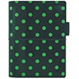 filofax 斐来仕 022516 Domino Patent pocket A7 松绿色波点 活页多功能记事本 笔记…