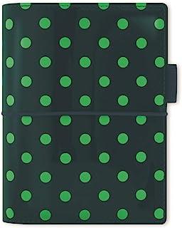 filofax 斐来仕 022516 Domino Patent pocket A7 松绿色波点 活页多功能记事本 笔记本 活页本日记本 万用手册 手账 2017年日程本