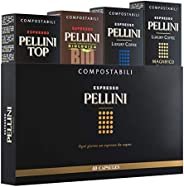 Pellini 特浓咖啡胶囊礼品盒–中浓烘焙意大利咖啡胶囊-兼容Nespresso,40粒胶囊