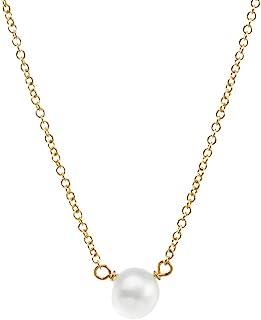 Dogeared 幸福珍珠,小号白色珍珠,链式项链,40.64 厘米+5.08 厘米延长链