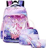 """学生女孩背包青少年书包套装 儿童书包 15 英寸笔记本电脑背包 A-colorful Star 11.8""""x6.7&q"""