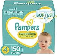 婴儿纸尿裤尺寸 4,150 片 - Pampers 帮宝适 襁褓,一个月供应(包装可能有所不同)