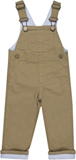 男婴背带裤帆布和牛仔裤 - 可调节肩带 - 婴儿和儿童服装