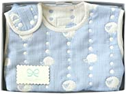 Hoppetta 6层透气纱布儿童睡衣睡袋 礼物套装 蓝色(宝宝尺寸)18111038