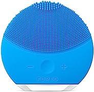FOREO 斐珞爾 LUNA mini 2 露娜 潔面儀,洗臉儀,皮膚護理設備,由適用于每種皮膚類型的軟硅膠制成,海藍寶石,可充電USB