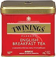 Twinings 川宁 伦敦英式早餐散装茶罐,7.05盎司(6包),200克