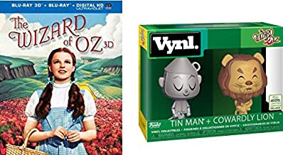 Courage + A Heart Some Thing Everyone Can Relate To: 绿野仙踪3D蓝光 (teelbook Blu-Ray 限量版) + Funko 会议*Vynl。 Tin Man + Cowardly 狮子包