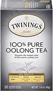 Twinings 川宁 伦敦纯乌龙茶,袋装,20袋(6包),1.41盎司,40克