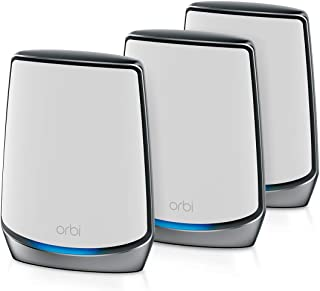 NETGEAR Orbi Whole Home Tri-Band Mesh WiFi 6 System (RBK853) – Router With 2 Satellite Extenders   Coverage up to 7,500 s...