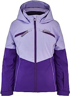 Spyder 女童征服滑雪夹克 – 儿童全拉链连帽冬季外套