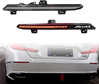 烟熏镜片后保险杠反射器刹车尾连续闪光单灯灯灯适用于 2018-2020 Honda Accord * 10 次即插即用 (*烟熏镜片)