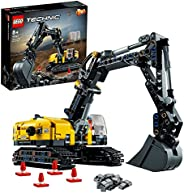 LEGO 乐高 42121 Technic 重型挖掘机玩具,二合一模型,积木车辆套装,适合8岁以上儿童