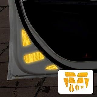N/H KUNGKIC *车门反光贴纸自动打开标志警告贴花兼容梅赛德斯奔驰 A 级 W177 配件(黄色)
