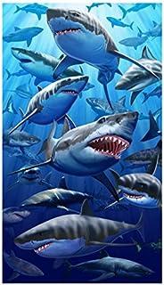大白鲨海滩浴巾(101.6 厘米 x 177.8 厘米)