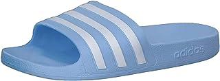 adidas 阿迪达斯 Adilette Aqua Slide 成人条纹凉鞋,男女通用