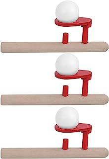 TOPINCN 浮动吹管球玩具,木制平衡吹发玩具,*木制吹发玩具,浮动球游戏