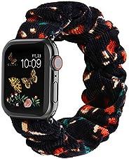 Recoppa 兼容 Scrunchie Apple Watch 表带 38 毫米 42 毫米 40 毫米 44 毫米可爱印花弹性表带女式手链表带适用于 Apple iWatch 系列 6 5 4 3 2 1