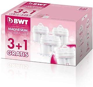 BWT Magnesium Gourmet L0814334 Cartridges Water Filter (Pack of 3 + 1)