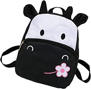 TABITORA 卡通动物牛尼龙背包书包幼儿包 黑色