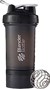 BlenderBottle ProStak系统 22 盎司(623.69克)饮水瓶 一扭即锁 黑色