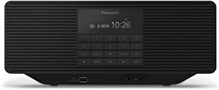 Panasonic 松下电器 RX-D70BTEG-K 数字收音机 带CD播放器(DAB +,立体声,蓝牙,FM,电源和电池驱动,AUX,报警功能),黑色
