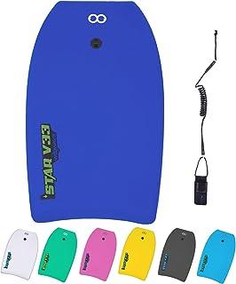 WOOWAVE *板 33 英寸/37 英寸/42 英寸(约 83.8 厘米)/42 英寸(约 106.7 厘米)高级 EVA 车身板,带卷绕腕带,EPS 核心和 HDPE 滑底,超轻质滑板,非常适合儿童青少年和成人冲浪