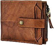 Spiffy 棕色真皮猎人皮革钱包男式真皮男士钱包带信用卡包