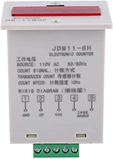Beennex JDM11-6H 电子计数器 6 位 LED 数字显示计数器 继电器 传感器计数器 (AC110V)