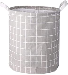 大号洗衣篮 可折叠篮 带手柄 可收纳衣服玩具 可折叠脏东西卧室(灰色,中号)