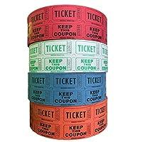 raffle tickets–(4卷 OF 2000双 tickets ) 8,000共50/ 50raffle tickets [ 选择颜色组合以下 ]