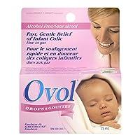 OVOL 嬰兒滴劑,快速溫和緩解嬰兒脹氣 15 毫升,加拿大制造