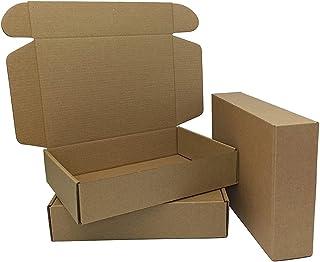 纸板运输箱,瓦楞纸箱运输箱,用于包装,9 英寸 x 6 英寸 x 2 英寸,50 个装